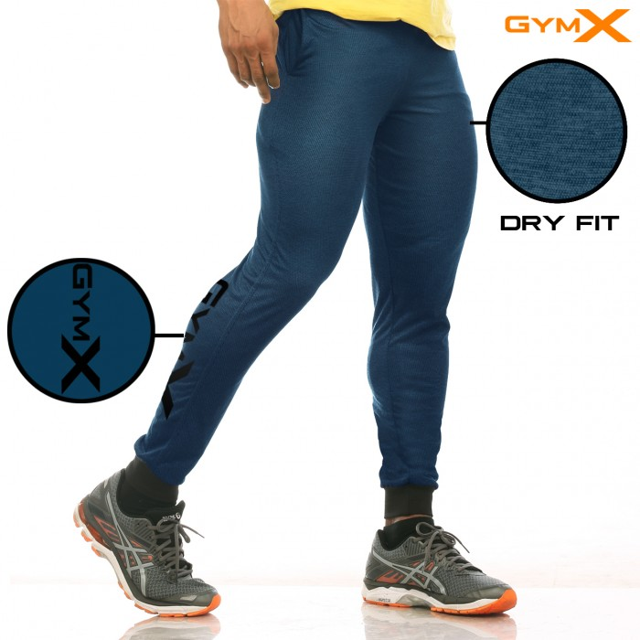 GymX Stealth Fitted Bottoms- Airforce Blue