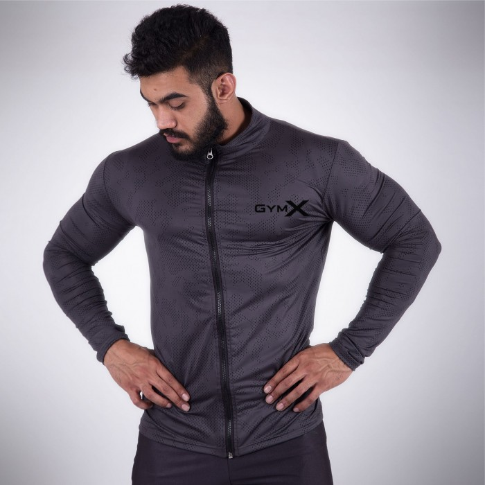 GymX Castlerock Grey  Jacket- Velocity Compression